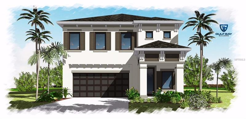 """Pre-construction. To be built in desirable Riverside Heights. The """"St. Augustine"""" is our most popular two story home. This Mediterranean style plan offers 4 bedroom, 2 1/2 baths, and a 2 car garage.  Built to meet the certified National Green Building Standards (NGBS) criteria, this home was designed by award winning Gulf Bay Builders.  The Energy-Efficient home includes the most advanced manufacturing methodologies available today. All of Gulf Bay Builder homes are built using a scientific procedure that enhances the performance of our homes. Our net-zero attainable homes feature SIPS (Structural Insulated Panel System), Icynene ProSeal Insulation and Jeld-Wen Hurricane Impact Resistant Windows. Healthy Indoor Air is assured using Zero VOC paints, Energy-Efficient air-conditioning, Fresh Air Ventilation, Anti-Allergen Air Filters, Carbon Monoxide Detectors Energy Star appliances plus so much more that will allow you to live healthier, safer and greener than you ever thought possible. All of our homes feature 42"""" upper cabinets, granite tops, Moen faucets, GE appliances, James Hardie siding, Jeld-Wen Hurricane Impact windows, 30 year dimensional shingles, craftsman interior doors with Schlage hardware. If your client desires more than our standard specifications, Gulf Bay Builders can customize to your client's needs and budget. Additional lots and floor plans available in the Seminole, Riverside, & Tampa Heights areas."""