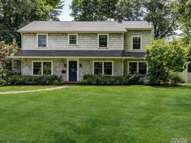 Spacious & Elegant 5 Bedroom Colonial With Renovated Kitchen And Baths. Spacious Foyer Leads To Formal Dining Room, Living Room With Fireplace, Office, Oversized Updated Kitchen With Mudroom And Large Family Room, Powder Room. 2nd Floor Offers Master Suite W/Spa-Like Master Bath & Oversized Walk-In Closet, 4 Addtl Brs & 2 Full Baths & Laundry. Renovation From 2012 Includes New Pella Windows, Roof &  Much More.
