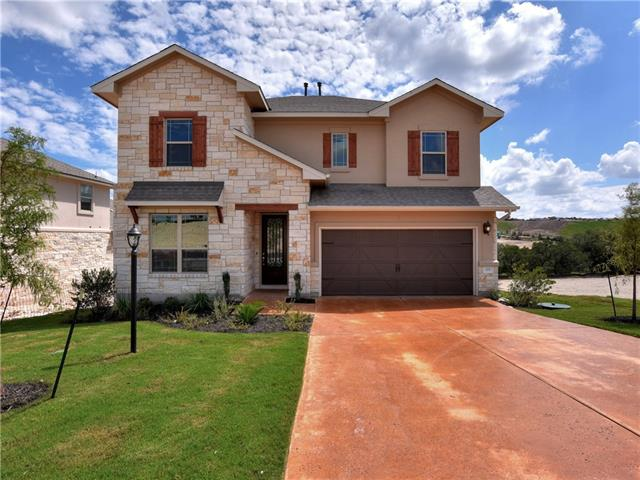 This stunning two-story home features an open floor plan, large gameroom upstairs and spacious gourmet kitchen.  The large covered patio is ready for an outdoor kitchen that includes a private, flat back yard.