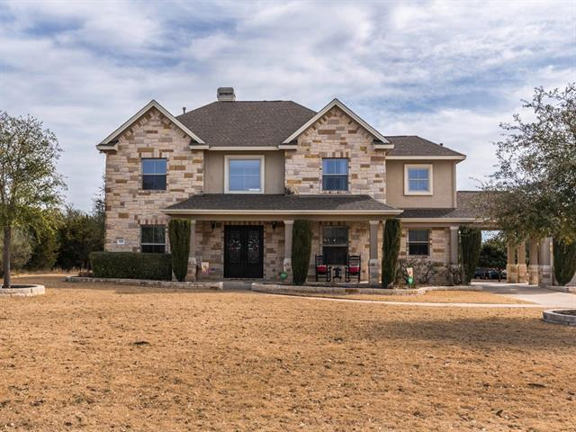 Unique custom home on 3.5 acres with gorgeous hill country views that has been meticulously maintained. Quiet & peaceful neighborhood. Highly sought-after Georgetown ISD. Heavily treed lot that backs to wet weather creek. Spacious home is perfect for entertaining and/or large families. Spacious kitchen with granite counter tops & opens up to large family room. Tons of storage throughout the home, as well as added storage in the garage.