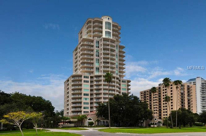 The Alagon on Bayshore is a 50 unit building which includes two floors joined into large one floor unit.  It is three per floor, two per floor and one per floor plus 3 townhomes.  This is a corner unit with great views of down town, open bay and trees.  The master balcony overlooks the pool.  The unit is in perfect move in ready condition.  A 3/3 ½ apartment that feels like a home.  It is beautifully appointed as one can see in the photos.  It has an air- conditioned separate storage room on the same floor.  Also, the unique feature on this model is the terrace out the living room and dining or family area (the dining is used as a family room in some units) but this terrace is very large and there is a balcony off every bedroom.  The amenities are a two story lobby with 24 hour guard, maintenance staff – theater, billiards, card room, rec room with kitchen, gym, restrooms with steam showers and a pool and Jacuzzi.  This building is in a perfect location with easy access to shops, schools, churches, International and private air ports and malls, and all of our Gulf Beaches, downtown St. Pete; minutes from downtown Tampa, 1 ½ hours to Disney.
