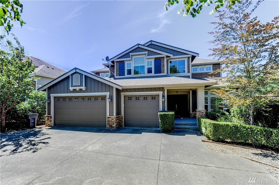 Better than new exceptional Burnsteads home in highly desirable Kensington community, great Western & Northern view of 60 acres, Olympic Mt, grand entry, elegant design, open kitchen w giant central island, slab countertops, Butler's pantry with wine coolers, SS appliances, build-in bookshelf & entertainment center that will fit your big TV, hardwood floor throughout the main level. Great Master suite, huge bonus rm, big rec room/theater w wet bar, specially made sound proof windows. Come & see.