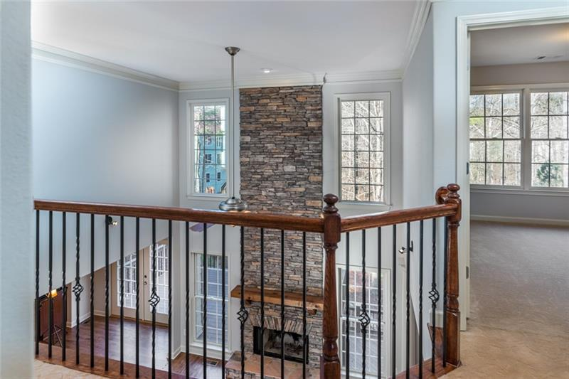 Upstairs walkway/landing overlooking family/great room!