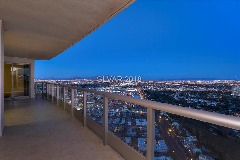 44th Floor Penthouse level high-rise. Wrap around balcony with magnificent views of the strip, mountains, golf course & airport landing. 3 bed. 3 bath. Turnberry towers offers great amenities including an incredible resort swimming pool, fully equipped gym, tennis courts and more. Open and bright, this unique piece of Real Estate is perfect for a Nevada residency. The sellers would entertain private financing depending on the terms.