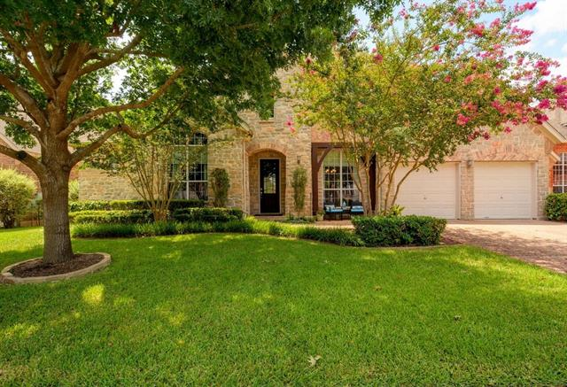 """Beautiful 2 story w/ great curb appeal & superb cul-de-sac location in the desirable community of Hidden Glen~ Spacious home offers a floor plan that is ideal for creating a relaxing life or work environment~Features include plantation shutters, pecan wood floors, 18"""" tile flooring, custom built-in cabinetry, study nook & more~Chef's kitchen w/ granite , SS appliances, dbl ovens, gas stove & butler's pantry~Dedicated study, game room & media~Beautiful lot w/ custom patio seating & outdoor bar~A must see!"""