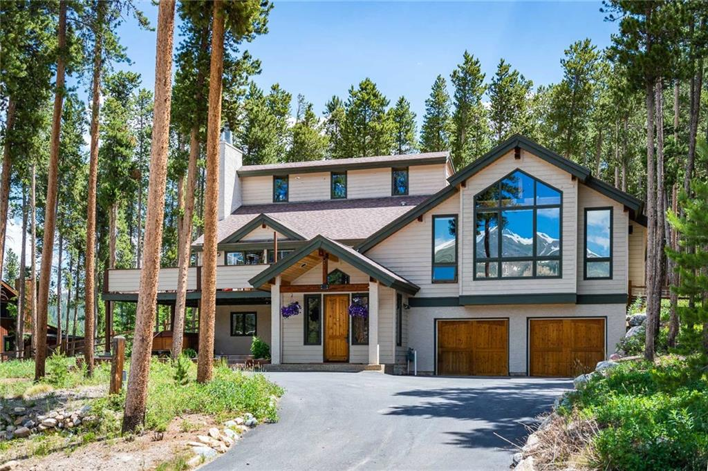 Spacious Breckenridge home with magnificent Ski area views, fenced dog yard, close to downtown. Attached two car garage, second living area, and a rec room with a bar and pool table. The trail system is accessed just across the street. Formal dining room, west-facing deck. With good bedroom separation for privacy, two main floor bedrooms, each with a bath, and 3 fireplaces, this home has all of the features you need to make memories for years to come!
