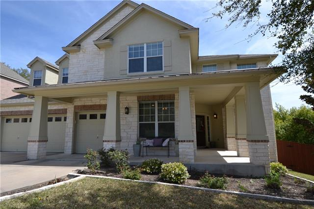 3572 sq ft (tax records) 5 br/4bath, 3 living, 3 car garage, corner lot. kitchen w/ gas cook top w/5 burners, built in microwave, double oven, island, walk-in pantry, fireplace w/gas logs, built in book cases, french doors into office/formal living, large Master br, soaking tub and separate shower in MB,  dual vanities, indoor utility, high ceilings, ceiling fans, formal dining & breakfast area, media room w/ sliding barn door, guest br with private bath, covered front porch & back, oversized back deck