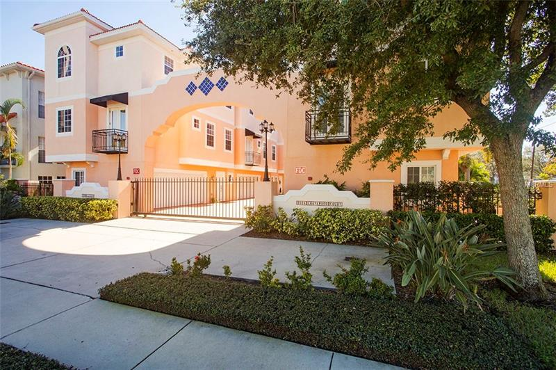 This extraordinary South Tampa townhome is located only steps away from Bayshore Boulevard in Palma Ceia and masters the art of being connected. The location offers a premier school district, exquisite shopping and dining. The residence offers two bedrooms each with a full bath, a dedicated study or a possible third bedroom adjacent to the third full bath. Dressed with hardwood floors, stainless steel appliances, granite countertops, crown molding, wood stair trends, wrought iron banisters, central vacuum and much more. French doors open from the study to allow fresh air and light into the home. Enjoy plenty of storage throughout combined with a functional floor plan. Located in a gated six residence community that is intimate and secure this home has a two-car garage. The style and charm of this community is the perfect urban lifestyle.