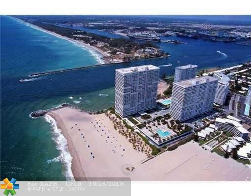 """Here is the rare chance to own a very high floor """"South-Facing"""" 2 Bed / 2 Bath at the newly updated Point of Americas II which is now an ever more modern & stunning jewel on the SE tip of Ft. Lauderdale Beach & the Inlet. This soaring perch in the sky nestled on the sunny side of POA II boasts panoramic views of the Ocean, Inlet & Coastline all the way to Miami Beach. Watch the cruise ships & mega-yachts sail by at your fingertips. This desirable & sought-after 29th floor """"04"""" stack unit already has impact windows & doors. Be able to create your own destiny and apply your desired personal designer touches / updating to make it your perfect """"Jewel Box In The Sky""""! 2 garage spaces. Amazing location, views, amenities & lifestyle await you at Point of Americas. A """"must see"""" unit & complex!"""