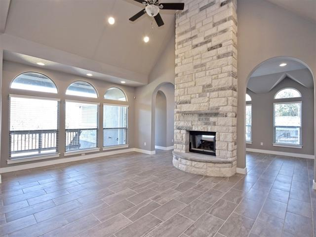 This one is truly a diamond in the rough.  A beautiful Custom in an Amazing Established Neighborhood w/Great neighbors and Schools! 4 beds, 3 bath, 2775 Sq ft & 3 car Garage! Custom Finishes to die for incls 21 ft Ceilings in Great room w/Stone Floor to ceiling, See-Through Fireplace-Soaring Entryway w/Custom Shelving, pass through pantry, over-sized utility with sink-4th bed makes a fabulous Office-Spacious backyard w/full Sprinkler and spacious deck w/Tongue & Groove ceilings!