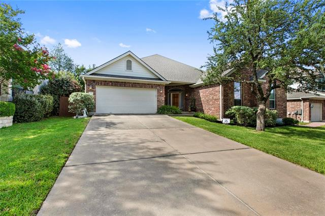 Incredible NE facing 1 story home in Avery Ranch zoned for Round Rock ISD. 3 bedrooms plus huge game room/4th bedroom, formal dining & office. Move in ready condition with wood floors in the living areas & bedrooms, Silestone countertops, 16 SEER AC replaced in 2017 & fresh paint. Open FP from the kitchen to living room, perfect for entertaining. Master suite separate from secondary bedrooms. Oversized covered patio. 1/2 block from  pool/park/Brushy Creek H&B Trailhead. Patsy Sommer & Pearson Ranch MS