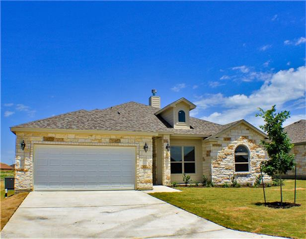 Beautiful home features hard tile throughout common areas, carpeting in bedrooms, recessed lighting, beautiful color scheme, crown molding, open concept floor plan, formal dining room, breakfast area, split bedrooms, fully sodded and sprinkled front and backyard and a privacy fence!