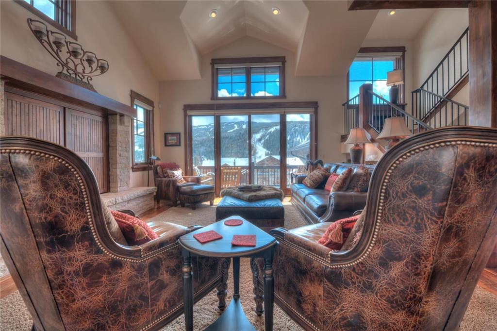 The home at The Sanctuary in Keystone backs to the National Forest, and boasts breathtaking views of Keystone Mountain. Relax in your hot tub in the forest after a long day of skiing, golfing, hiking, biking, shooting, and fishing. The kitchen is ready for the best celebrations with a gas Wolf range, SubZero refrigerator, and ample dinner seating for everyone. Comfortably sleeping 14 guests, with a two car garage and ample storage for all the gear, everyone will be comfortable during vacation.