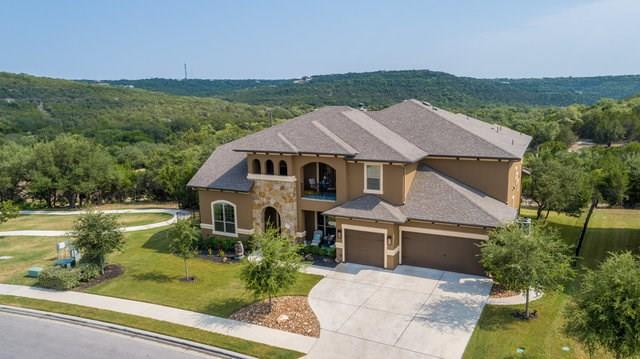 This lovely home sits on 1/2 acre in master planned community of Travisso. 5 beds, 5.5 baths. Sweeping hill country views, outdoor kitchen & fireplace, media room, game room w/ wet bar, study. Kitchen has a double island, pot filler, double ovens, 6 burner + grill stovetop.  Butler's pantry w/ wine fridge & sink. 2 separate stair cases, all beds have own bath. Private guest quarters down. Community clubhouse, gym, pool, splash pad, playground, wine club, concerts, poker night, kids' activities!