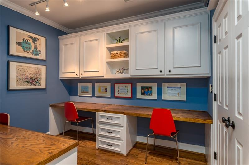 One of a kind office or kids homework room!