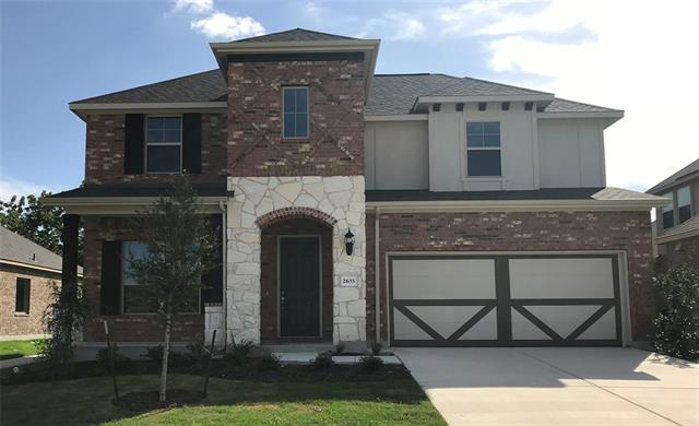 Two Story Rosewood Plan, Private Study with French Doors, 2 Story Family, Master Bedroom Bay Window, Granite Countertops, Custom Tile Backsplash, Covered Back Patio, Full Sprinkler/Sod in Front & Rear Yards. See Agent for Details on Finish Out. Available June.