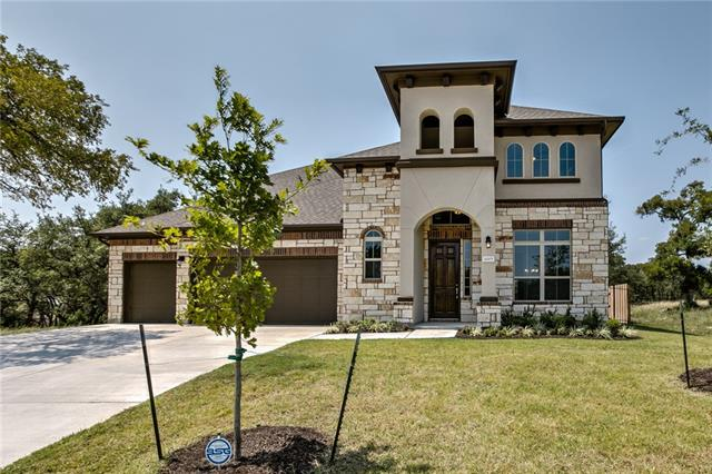 Open plan with expansive windows, washing the interior with warm sunlight. Beautiful first floor master suite with windows facing the greenbelt. Glass doors from the family room lead to a huge covered patio and breathtaking canyon and hill country views. Trento offers a beautiful oasis with the best in hill country living. Enjoy incredible tree-lined views, luxury amenity center/pool, minutes from Cedar Park shopping and activities. Milestone Community Builders.