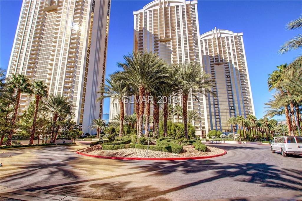 Tower 1 PENTHOUSE studio unit on the 33RD floor with balcony and STRIP VIEWS!!  Designer turnkey furnished. Jacuzzi tub, plasma TVs, Snaidero cabinetry and granite counters. Designer furniture, owner's pool/spa, lounge, gym, valet, concierge, and access to MGM Grand's amenities: Pool/spa, casino, and shopping!