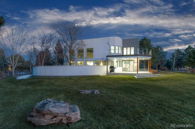 Contemporary Masterpiece in Greenwood Village on a private 1-acre lot! The 9,443 square feet features 7 bedrooms each with a full attached suite including an in-law-suite with a separate kitchen, living and laundry room. This home was built to entertain featuring an indoor pool, hot tub and breath taking sunsets from the backyard and upper balcony. The modern designer kitchen features custom built-in fridge, freezer, wine cellar, 2 islands and 4 ovens. Smart home features include built-in cameras, built-in speakers, wiring for automatic window coverings, a security system and an oxygen system throughout. The two Geomax2 high efficiency geothermal heat pumps provide efficient heating for the entire home. The home is directly adjacent to Hoffman Park and Greenwood Village walking trails which provides extra privacy. Located within walking distance to Cherry Creek Schools and Cherry Creek State Park. This modern home is a true masterpiece!