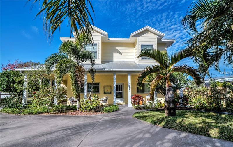 Central Pinellas Family home. This home features 3600 sqft of living space along with an oversized 3+ car garage. Enter into an open living room layout that flows into a dining area and open kitchen. Directly out back you will find a screened in area for enjoying morning coffee or relaxing with the family. First floor features its own private suite bedroom with attached bathroom. Heading upstairs you will find a second living area that is bright and airy, can be used as office/bonus living/play area. Double doors enter you into a plus sized master bedroom featuring walk in closet and master bath with dual vanities, water closet, Claw foot tub and walk in shower. Next to the master you will find another guest bedroom and the upstairs laundry room. Heading down the hall you find the upstairs guest bath attached to auxiliary bonus room. Finally to the back of the house you will find final bedroom with dual closets. Garage features plenty of room for cars and toys, bonus auxiliary storage, Work shop area also located off parking in garage, pad poured for parking an RV also. This home is 5500+ sqft of space and would be perfect for a large family or anyone looking for plenty of room. Call Today to see this home.