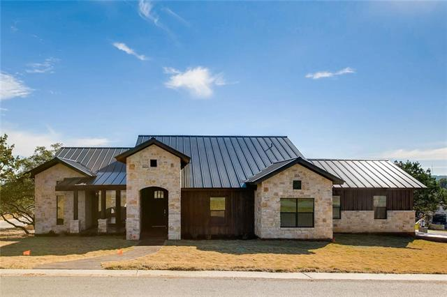 Gorgeous new construction modern farmhouse with expansive hill country views. Gourmet kitchen with plenty of workspace. Open concept floor plan. 3 bedrooms plus private study. Lovely outdoor kitchen with fire pit- perfect for entertaining while enjoying the views. Tons of upgrades- spray foam insulation, solid core doors. Double lot with fence.