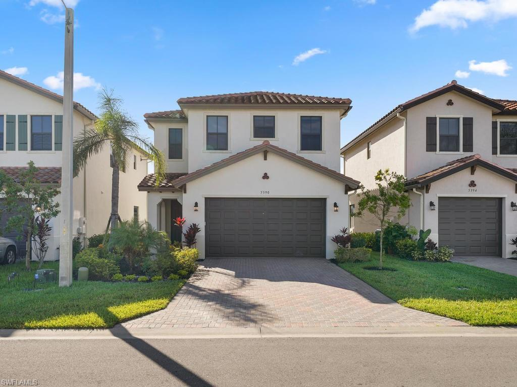 "H.13465 - Gorgeous like NEW, 3/2.5 + Loft single family, 2-story home ""Doheny Model"" w/two car garage & premium lake view! Upgrades include 42"" cabinets, granite curved edge counter-tops, stainless steel appliances, under-mount sink, upgraded pantry & drawers (convenience package) and modern lighting fixtures including recessed lighting. Hurricane impact windows (no manual shutters), 7x11 extended pavers (patio), 18"" tile on first floor & carpet on the 2nd floor (loft/bedrooms). The master bathroom shower is upgraded w/seamless shower door, tile extended to ceiling and Kohler faucets in bathrooms. This lovely maintained home includes window treatment throughout, extra tv jack in loft and tv wall mounting in great room & master for your convenience. The wow factor is the roof,> ICP 2-Component Foam Roof Tile Adhesive Polyset AH-160 Adhesive-Set System and includes a 20 year warranty! Excellent location near the town center, dining, Publix, Ave Maria amenities, playground, parks, walking/jogging trails, dog park, fitness center, tennis courts, bocce and more. Come experience this one of a kind home in Ave Maria's award-winning neighborhood Maple Ridge. New Club House Coming Soon!"