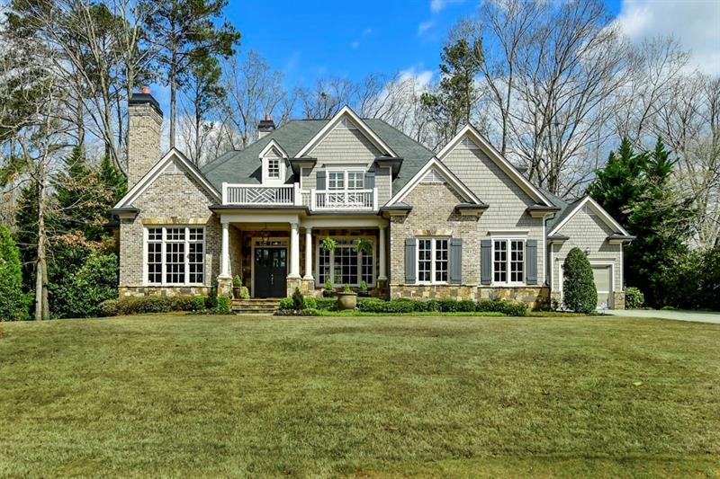Timeless Executive Estate, Classic Build & Design in Heards Ferry District. 6 Beds, 6 Full Baths, 2 Guest Powder Rooms, Private Grounds, In Ground Pool with Stone Patio & 3 Car Garage. Gourmet Kitchen - Custom Built White Cabinetry, Granite Countertops, White Subway Tile Backsplash, Island w/ Gas Cooktop, Separate Double Ovens & Warming Drawer, Breakfast Bar. Owners Retreat - Crown Trim Trey Ceiling, Master Retreat Reading Nook, Gas Fireplace, Attractive En-Suite w/ His/Hers Vanities, Walk-In Glass Shower, Soaking Tub. Finished Terrace Level - Wet Bar, Billiard Room.