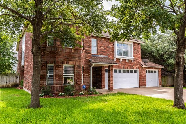 Beautiful Ranch at Cypress Creek home with tons of space! 5 oversized bedrooms and 2.5 baths. Extra large master w large walk-in closet. Office nook at top of the stairs. 2 living areas and 2 dining areas. Bright open kitchen features granite and HUGE walk-in pantry. Opens to great room/2nd living area w fireplace. Hardwood Floors throughout entire home – no carpet! Newer HVAC system 2018. 3 car garage. New Roof 2010. Easy to Milburn Park, Shops, and Restaurants. Deer Creek Elem, Cedar Park Middle and HS.