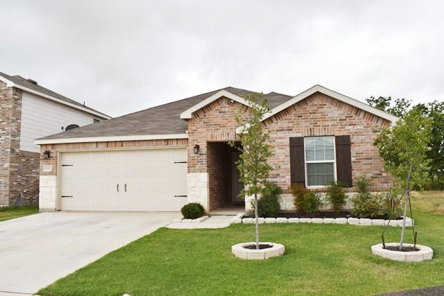 Fabulous 3-2-2 in N Ft Worth, Northwest ISD! Great location, open layout, spacious rooms, gorgeous granite countertops, loads of natural light, walk-in closets and so much more! Entry has a great built-in Mud rack. Huge 21x14 family rooms opens to the dining and kitchen for the ultimate entertainment experience! Dining area overlooks the lovely backyard with an open patio. Wonderful kitchen boasts beautiful granite, a center island, large pantry and a built-in microwave. Large 16x13 master suite has a 9x6 walk-in closet and private bath with dual sinks, soaking tub and separate shower. Nice sized secondaries with walk-in closets, large utility with Drip-Dry area, amazing community pool, park and more! *NO CATS*