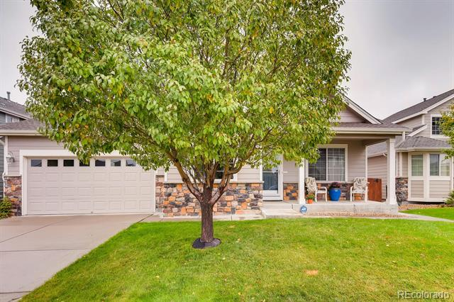 This gorgeous ranch style home in Buffalo Mesa is welcoming from the moment you arrive and features 3 beds, 2 full baths, kitchen, family room living room, dining room and a 3 car attached garage (2 plus 1 tandem). Pride of ownership shines throughout!  The energy efficient furnace, gas fireplace, central air conditioning and ceiling fan keep this home comfortable all year long.  Neutral tones throughout make it easy to picture yourself calling this one yours. Enjoy warm summer evenings from the deck, gardening in the backyard or people watching from the covered front porch.  An unfinished basement is perfect for your future expansion. Ample storage space w/lots of closets. Just lock up and go explore all that Colorado has to offer.  Close to dining, shopping, entertainment and other amenities.  A short commute to Longmont, Westminster, Denver, Boulder and beyond.  Why wait for new when this beautiful home is ready now?  Don't miss your opportunity – it won't last long.