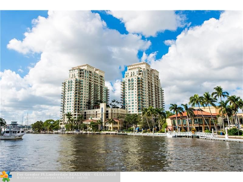 Luxury on the New River! This 3 bed, 2.1 bath, NE corner unit w/ split floor plan; ideal as an annual or seasonal home. Renovated unit has new high end appliances, custom solar shades, quality carpet in bedrooms & marble floors in L/K/D & baths. Bosch W/D, ELFA shelving in closets, new Bosch air handler & Nest thermo. 2 parking spots; 1 on same floor as condo! Anyone seeking security & amenities will love it! Gated entry, 24/7 front desk & valet, spa, gym, heated pool/sauna, on-site mgmt, & so much more!