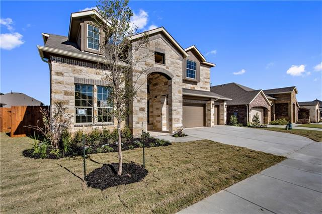 BRAND NEW HOME READY FOR MOVE IN!  THIS BEAUTIFUL 2 STORY FITZGERALD PLAN IS LOCATED RIGHT ACROSS THE STREET FROM LAKE PFLUGERVILLE!  THE WHITE KITCHEN CABINETS ALONG WITH THE GRANITE COUNTERTOPS GIVE A GREAT FINISHING LOOK.  THE HOME HAS A WASHER/DRYER, FRIDGE, BLINDS AND 2 GARAGE DOOR OPENERS!