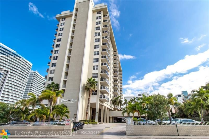 MAGNIFICENT 2BR/2BA CONDO IN MILLION DOLLAR LOCATION ON TRENDY FORT LAUDERDALE BEACH WITH OCEAN & INTRACOASTAL VIEWS FROM ALL WINDOWS! JUST STEPS TO THE BEACH, RESTAURANTS & ENTERTAINMENT. LOW MAINTENANCE, IMPACT WINDOWS & SLIDING DOOR, TROPICALLY LANDSCAPED POOL WITH CABANAS & BBQ GRILLS, FANTASTIC EXCERCISE ROOM. LUXURY BEACH LIVING AT A MODEST COST. THIS RESIDENCE HAS NEWER KITCHEN & BATHS. OPEN KITCHEN, BAMBOO FLOORING. SOUTH FACING BALCONY WITH AMAZING VIEW! CHECK THE 3D VIDEO FOR A FULL TOUR!