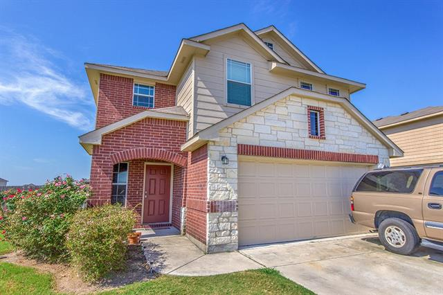 Four bedroom Hutto home on a corner lot with large kitchen featuring lots of cabinet and counter space. One bedroom and bath on the main level with master plus 2 additional bedrooms and bonus room on second level. Covered patio overlooks the spacious back yard.
