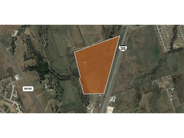 """This beautiful tract is located on the southbound IH35 Access Road frontage road, just north of 195. The property has a future land use listed as """"mixed-use"""" and would lend itself well to a retail/industrial/residential mix development. Owners may be open to subdividing the track but would prefer a minimum 20-acre sale. See the second page of Marketing Brochure for an optional development plan."""
