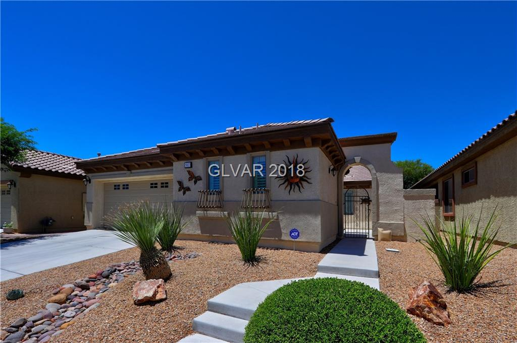 "LIVE THE LIFESTYLE IN GUARD-GATED, AGE-QUALIFIED ""ARDIENTE"" IN NORTH LAS VEGAS!  PARKS, COMMUNITY CENTER, FITNESS, 2 POOLS, SPA,  BILLIARDS, BOCCE BALL, PICKLEBALL, BASKETBALL, CARD ROOM,  SOCIAL CALENDAR!  2 BR'S PLUS DEN IN MAIN HOUSE, PLUS 1 BEDROOM  & BATH IN SEPARATE CASITA! WALLED PATIO/COURTYARD W/FIREPLACE!  LIST OF UPGRADES AVAILABLE, CURRENT SCOTT DUGAN  APPRAISAL AT $275,000.  SUBJECT TO PROBATE COURT APPROVAL, SOLD ""AS IS."""