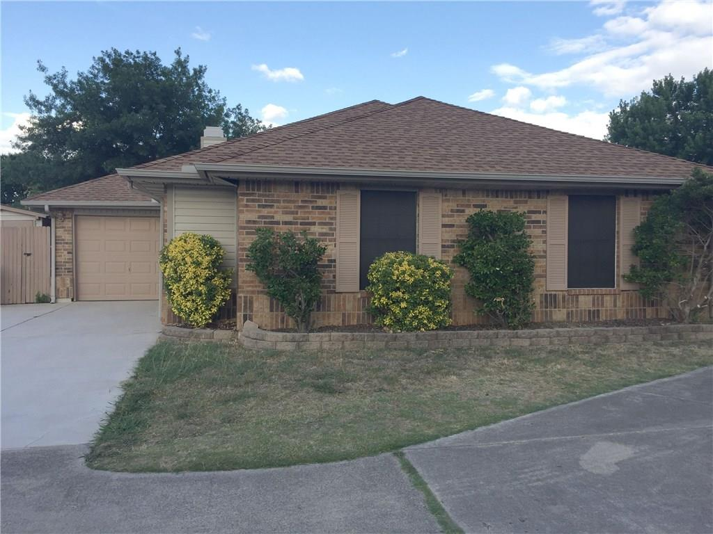 Unique home on culdesac lot. Features 3 bedrooms, 2 baths, spacious family room with wood burning fireplace, & bonus sunroom. Open floorplan, vaulted ceilings, carpet & tile flooring, ceiling fans in master & kitchen. Side yard has nice shed. Keller ISD! Must see this one!