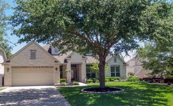 Morrison single story on .36 acre greenbelt lot. Front has lovely view of Twin Creeks golf course. Study w/bookcase & desk, 2 DR, Family, Sun/Game Room, Island Kitchen, Master, 2 second Bdrms, 3.5 Baths, Storage, Utility, 3-car tandem Garage. Covered & open patios. Limestone & Sundek coating lead to a resort-style saltwater pool & spa. Terraced backyard heavily-treed & ultimate in privacy. Lush landscaping takes your breath away! Upgrades & features available.