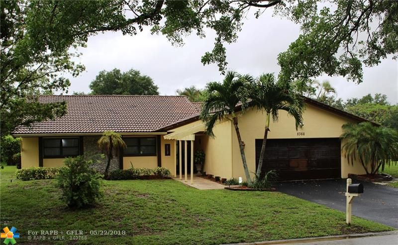 THIS IS AN UNAPPROVED SHORT SALE SUBJECT TO LENDER'S APPROVAL. Beautiful 3 bedroom 2 bath single family home on 1/4 acre corner lot, located in the heart of Coral Springs within walking distance to middle and elementary schools. Bright open floor plan with tile and wood floors throughout, huge backyard with wonderful water views from the family room, dining room, and master bedroom. Owner is extremely motivated - bring all offers!
