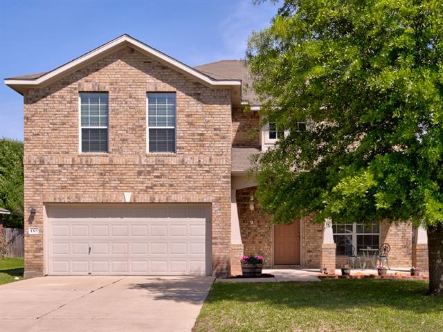 Beautiful two story four bedroom, two and half bath home in the Legends of Hutto. Fresh interior paint, lovely front porch, with large tree for shade. Great location! Walking distance to park, close to schools, shopping and toll road. Open floor plan with separate office, large bonus room upstairs, plenty of room for entertaining! Located on a nice quiet street! Price under $245K!