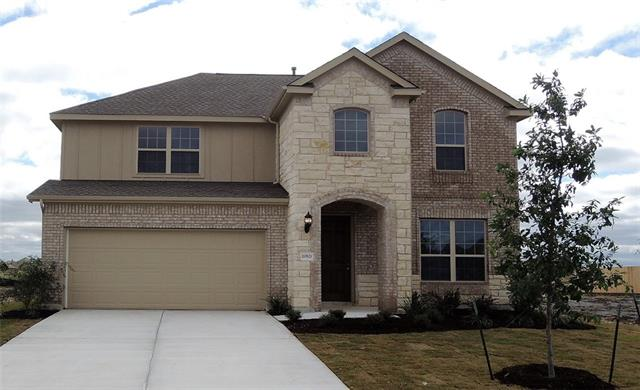 Two-story Rosewood design features a 2-story Family Room, 5th Bed/3rd Bath Downstairs, Master Bath with Soaking Tub and Shower with Seat, Game Room, and Covered Patio, along with Wood Floors downstairs at the Entry/Kitchen/Family Rooms! Estimated completion in early October.
