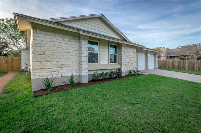 Stunning North Austin home on a huge lot (1/4+ acre). Completely remodeled 4 bedrooms, 2 1/2 bath; Vaulted ceiling with cedar beam; open floor plan; huge extra bedroom with outside access perfect for home office; mother in law or teen. Perfectly nestled in the heart of everything, easy to get to Parmer, MoPac, Tolls, Domain and more. No HOA. A must see! See Updates list. Owner/Agent
