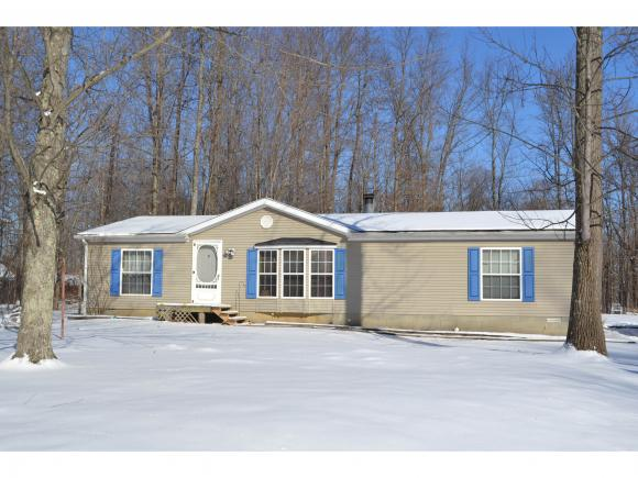 Wooded setting on dead end road.  Private back yard.  Stone fireplace in living room; bay window.  Appliances negotiable.