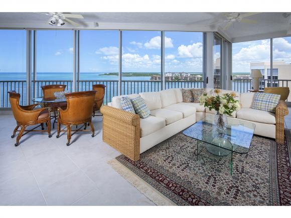 Rarely offered Penthouse in prestigious Hideaway Beach on the Gulf of Mexico!. Stunning views from the moment you walk into the beautiful Penthouse overlooking Gulf, Beach and Collier Bay!. Over 4000 sf with 3bd/ 3.5 baths plus den! Crema marfil marble floors, gourmet kitchen with quartz counters and induction stove! Formal dining and living all over looking Gulf and Beach! 2 master suites, one overlooking Gulf and Beach, one overlooking Bay! Views from every room! Skylights add to the ambiance of this beautiful residence! World class amenities in this 24hr gated community include clubhouse on the beach, 2 miles of white sand beach, golf, tennis, fitness bocce ball and much more! Live the lifestyle you deserve! Offered at $1,695,000