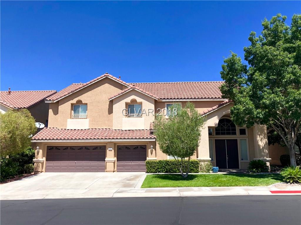 Beautiful home in the heart of Green Valley Ranch! Renovations to kitchen, dining room, master bath & pebble tech pool. New carpet recently installed. Excellent home to entertain in w/ open floor plan & large kitchen/family area. Dual walk-in closets in master w/ spa like bathroom. The master also has den retreat w/ balcony walkway. The solar heated pool/spa have built in slide & water falls & there is a 3 hole putting green w/ paver patio.