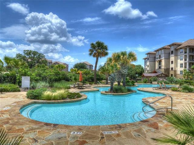 Southeast exposure unit in The Waters. Located in the heart of Horseshoe Bay Resort. Walk to most of all the club amenities. Newly furnished with new carpet and paint. Lock and leave, stay a while, or put into a rental pool. This community offers a pool and BBQ area.