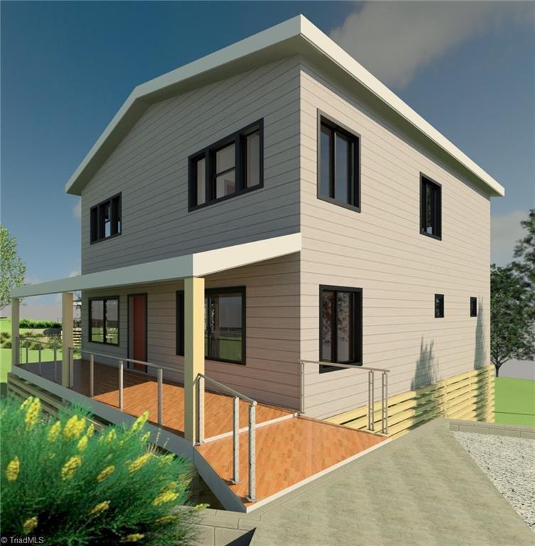 Image of contemporary home design in Washington Park, Winston-Salem, NC