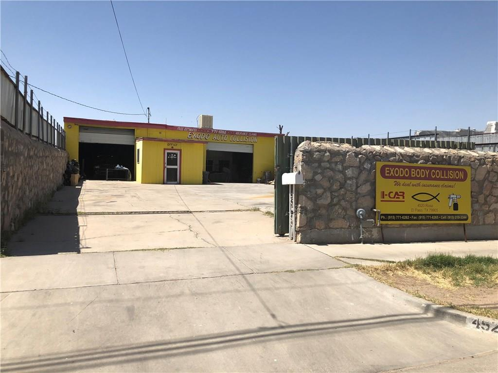 Central El Paso Easy access off I-10 take Reynolds Street below just behind University Medical Hospital and Texas Tech HSC. The location is currently being used as an auto body paint shop and repair. The building is approximately 50 x 48 ft. or 2,400 sq. ft. in size. It also has a 12 x 12 foot attached office. The enclosed lot measures approximately 54 wide in front for frontage and 136 feet long enclosing the 6000 sq. ft. lot. The fence is high and secure with rock wall and additional barbwire. Great location, clean shop. Great to move in quickly for your endeavor. Give me a call and let's talk the possibilities of this site.