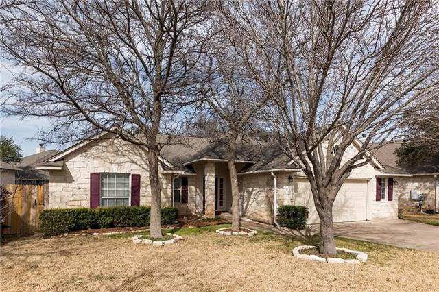 Great 1-story floorplan with an expansive open kitchen-living space perfect for family life or entertaining. Extremely convenient to all of the hot spots in Cedar Park like HEB plus, Cedar Park Event Center and minutes from 183 toll.