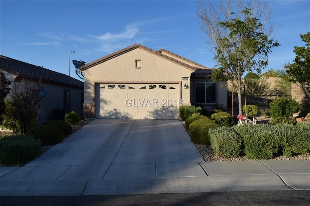 Beautiful single story home in Sun City Anthem!  All tile flooring throughout the home , except carpet in bedrooms. Separate master suite.  Backyard with covered patio and low maintenance landscaping.